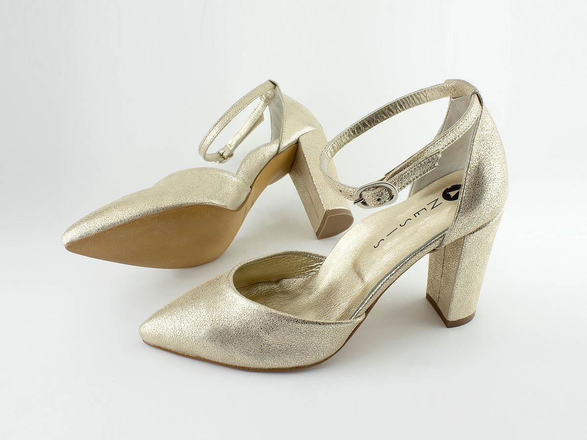 Νυφικό παπούτσι με ψηλή μπαρέτα, τακούνι 9½